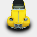 Icon: 2CV, cars archigraphs, Pixel: 128 x 128 px